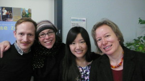 with my colleagues from HZ
