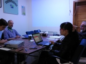 EU-China NGO Twinning Participant Michael Bender at his Host Organisation YEDIs Office