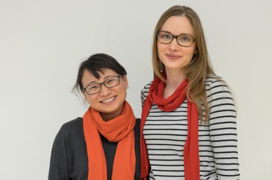 2014 Twinning partners Yang Hongyan (PEAC,China) & Luise Körner (SOS, Germany)