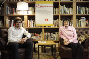 2014 Twinning partners Antoine Colonna d'lstria (Pro Bono Lab, France) & Ye Ying ( Beijing Huizeren, China)