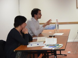 Malgorzate Jankowska, EEAS and Mathias Eberlen, Assistant to MEP Jo Leinen