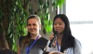 Rebecca Freitag (BUNDjugend Berlin) and Zheng Xiaowen (China Youth Climate Acton Network)