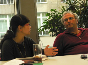 Liu Yun and Jochen Fritz in conversation at capacity building workshop
