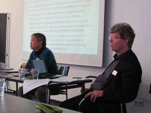 Introductory presentations by journalist Shi Ming and Civil Society expert Horst Fabian