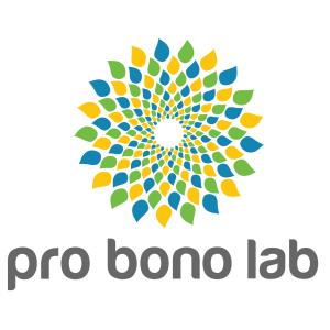Logo Pro Bono Lab blanc HD carré