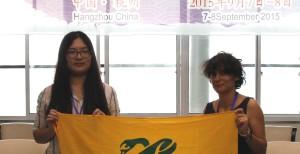 Katiuscia Eroe (Legambiente) and Wang Ling (Green Zhejiang)