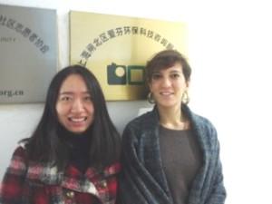 Ma Xiaolu (Shanghai IFINE) and Isabella DiBlasio (Zero Waste France)
