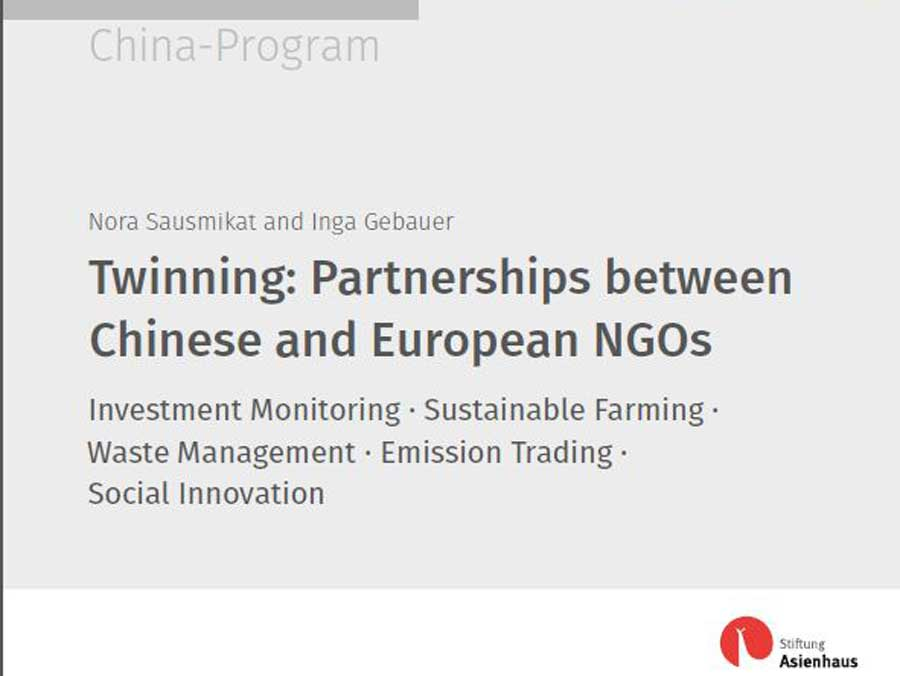 2014 Twinning Full Report: Investment Monitoring – Sustainable Farming – Waste Management – Emission Trading – Social Innovation""