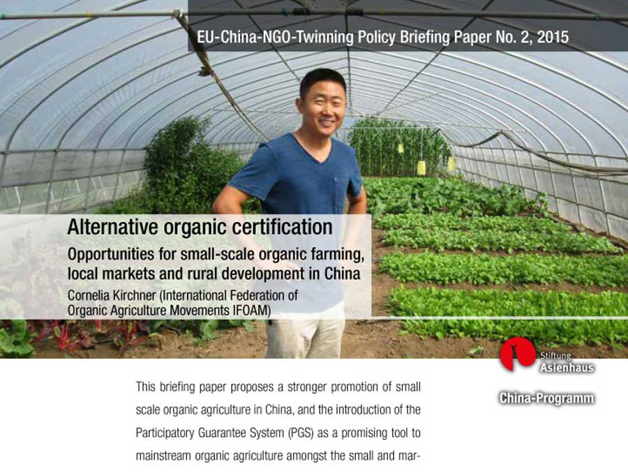 Policy Briefing No. 2: Opportunities for Small-scale Organic Farming, Local Markets and Rural Development in China